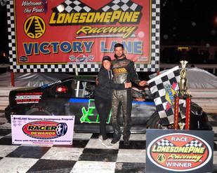 Lonesome Pine Raceway Racer Rewards Winner Josh Detwiler