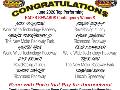 Racer Rewards Winners