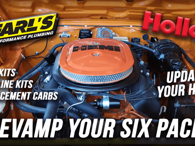 Holley News: Earl's Releases New -6 AN Fuel Line Kits For Classic Six Pack Muscle Cars