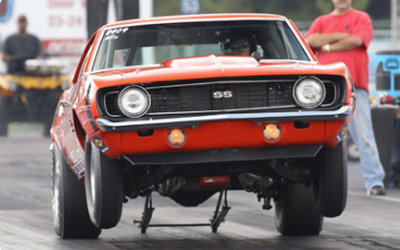 Competitive drag racing is open to all Chevrolet or Pontiac bodied or powered cars