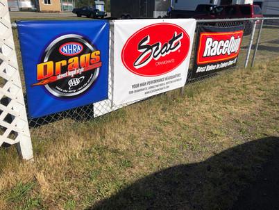 Bremerton Raceway sponsor signage