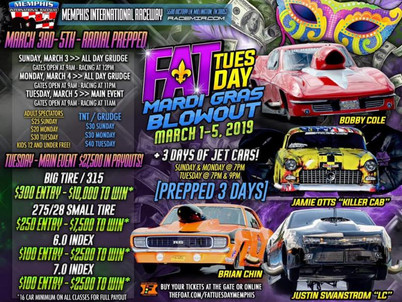 Get ready for Mardi Gras at Memphis International Raceway