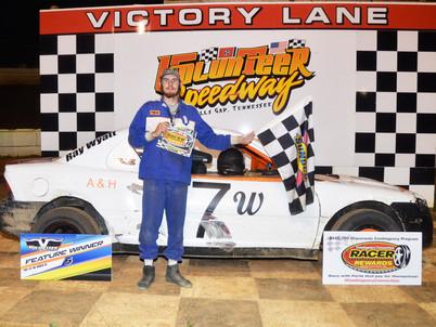 Volunteer Speedway Racer Rewards Winner Ray Wyatt