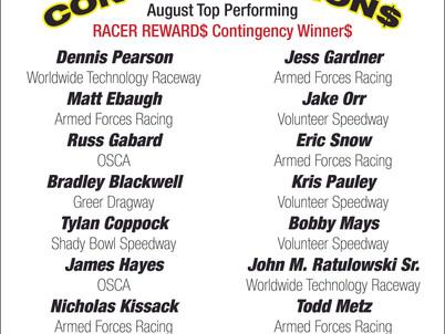 Racer Rewards Winners