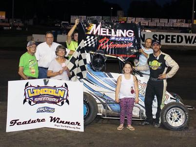 Lincoln Speedway D2 Midget Winner Driver #51 Korey Weyant