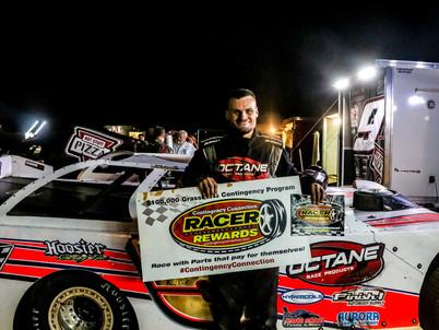 Jackson County Speedway Racer Rewards Winner Zach Milbee