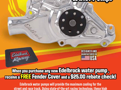 Get the Flow with Edelbrock Water Pumps