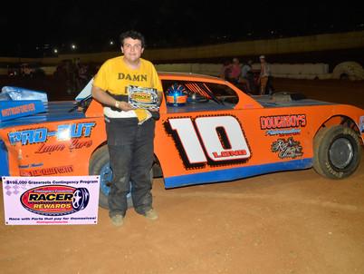 Volunteer Speedway Racer Rewards Winner Colby Long