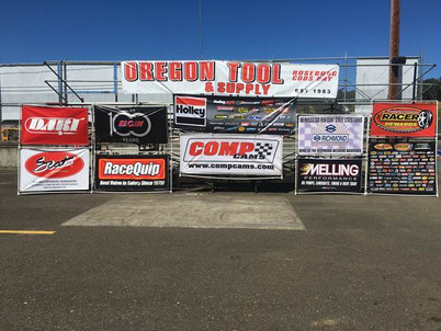 Unreal Sponsor Banners from IronGiantSeries.com at Douglas County Speedway