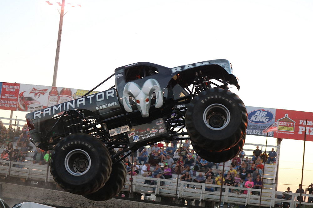 The RAMINATOR Monster Truck will be making its annual apperance at Macon Speedway Saturday night (Double J Photo)