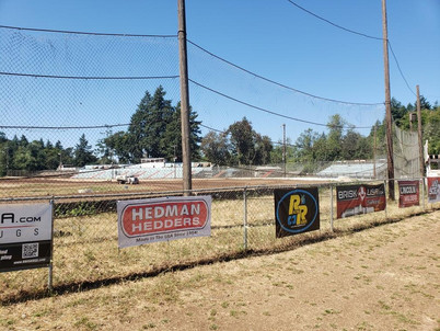 Banners Everywhere at Cottage Grove Speedway