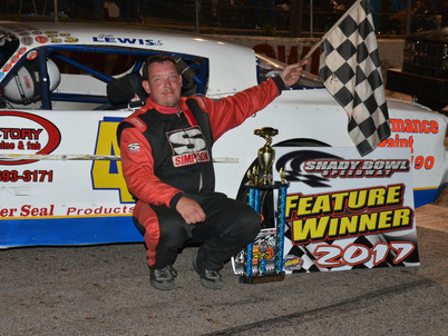 Carroll Tops Modifieds at Shady Bowl - 7/8/17 RESULTS