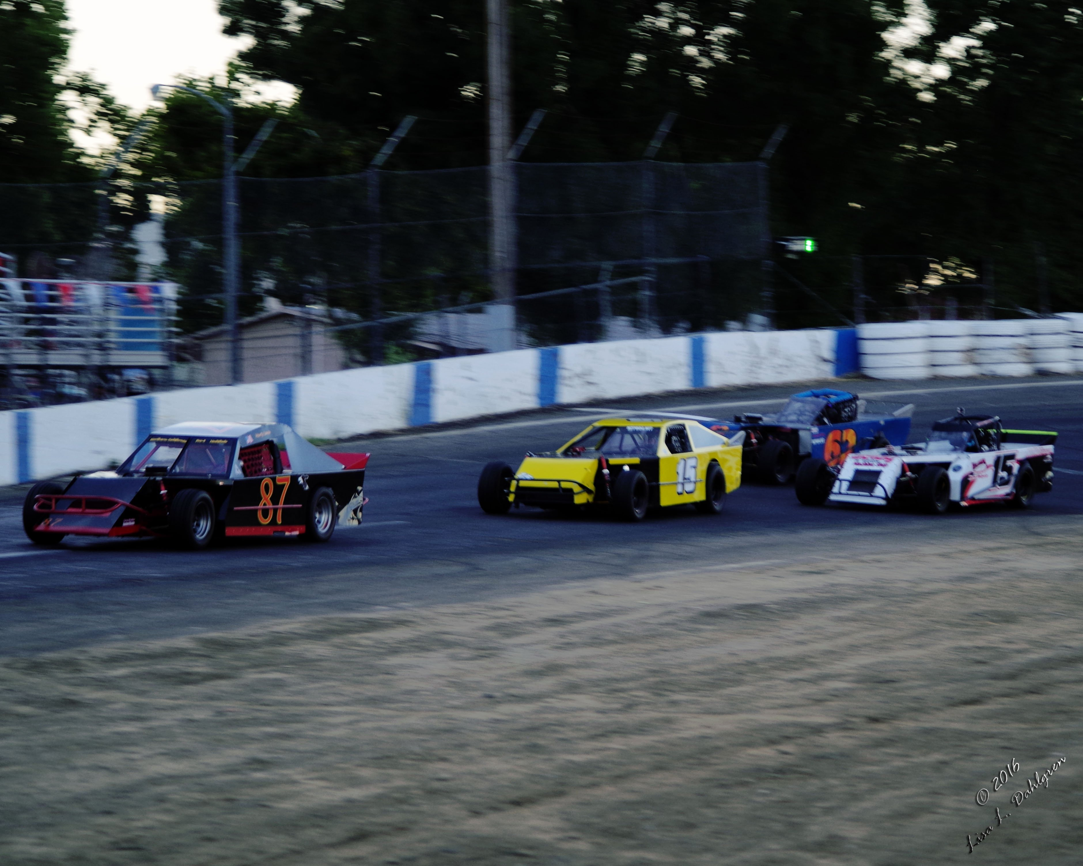 Pro-4 Modifieds Coming Around Turn 4