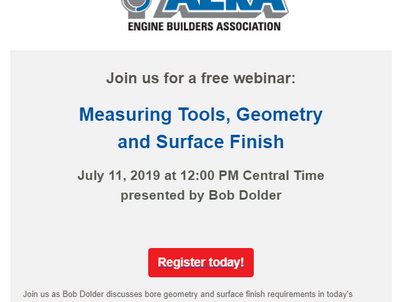 AERA Offers Measuring Tools, Geometry and Surface Finish July 11