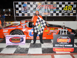 Kingsport Speedway Racer Rewards Winner Tony Dockery