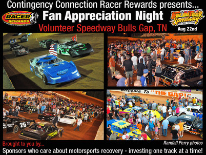 Contingency Connection sponsors $50,000 in awards for Volunteer Speedway Fan Appreciation Night