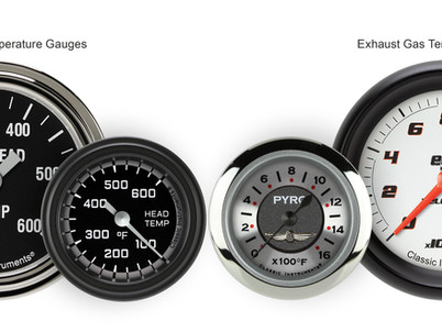 Classic Instruments Releases Exhaust Gas and Cylinder Head Temperature Gauges