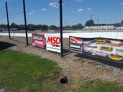 Sponsor Banners at Midvale Speedway!