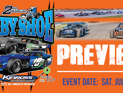 'Baby Shoe' featuring 60-lap Modified Feature this Saturday at Kinross