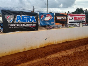 Banners at the Track - Volunteer Speedway