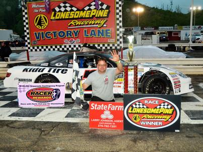 Lonesome Pine Raceway Racer Rewards Winner Elby Harrison