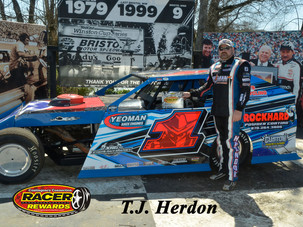 Bristol Motor Speedway Dirt Nationals Racer Rewards Winner T.J. Herdon