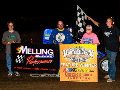 Delty Winfrey wins Melling awards at Valley Speedway
