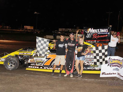 Lincoln Speedway Modified Winner Driver #77 Ray Bollinger