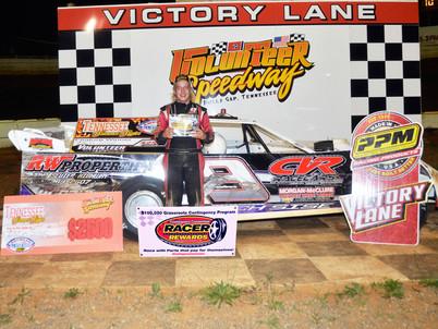 Volunteer Speedway Racer Rewards Winner Zach Sise