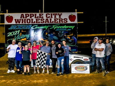 Jackson County Speedway Racer Rewards Winner Tyler Carpenter
