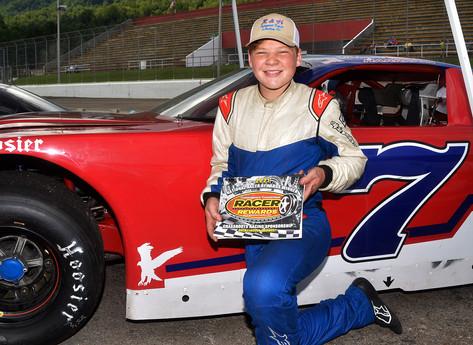 Lonesome Pine Raceway Racer Rewards Winner Blayne Harrison