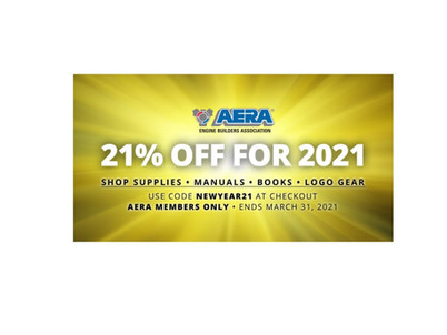 21% off for 2021 – For AERA members