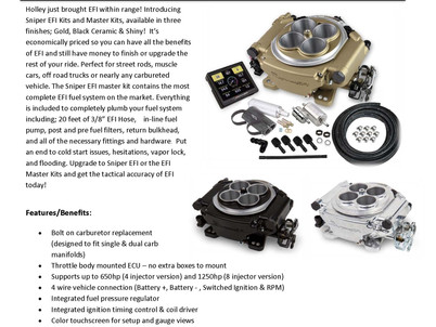Holley Sniper EFI & Complete EFI Fuel System Solutions Available Now