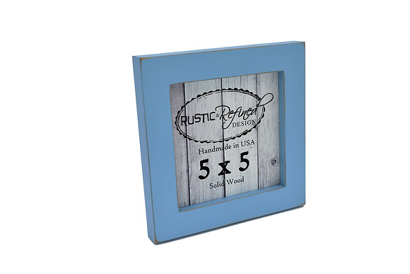 "5x5 1"" Gallery Picture Frame - Baby Blue"