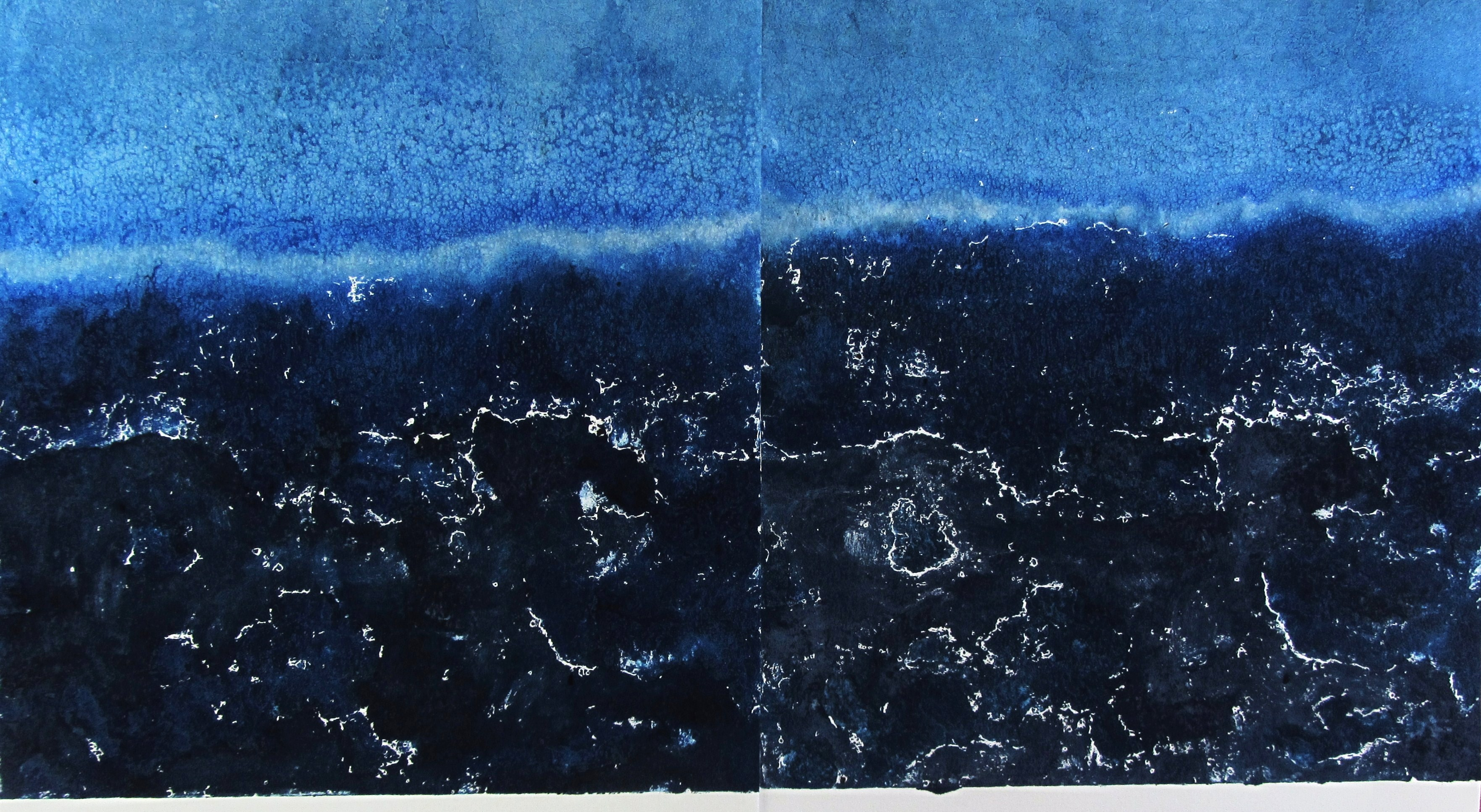 Tidelines 62 x 112 cm Saltwater Etching