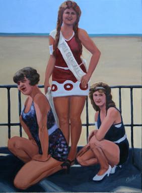 Vintage Beach Series: Beach Trio #2