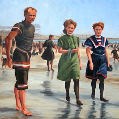 Vintage Beach Series:  Lifeguard, circa 1900