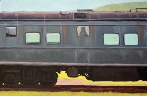 Grey Train Car