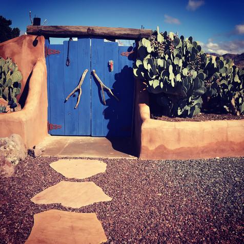 New Mexico blue door