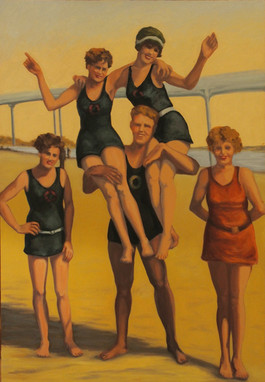 Vintage Beach Series: Human Tower