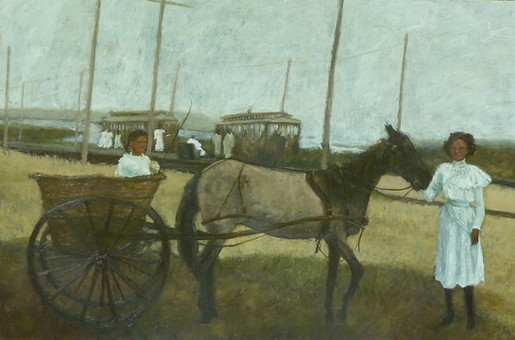 Vintage Train Series: Horse Cart and Trolleys