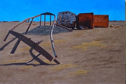 Bolivia Series: Train Skeleton #7