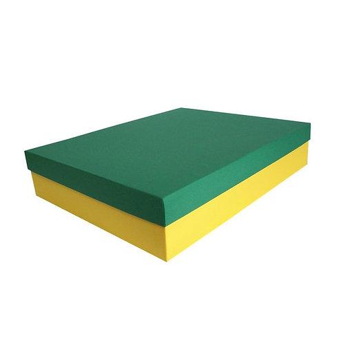 Caixa Rígida Verde e Amarela