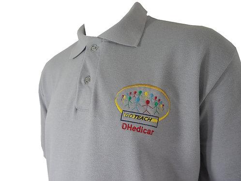 Camisa Polo Cinza Personalizada