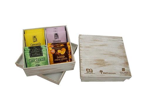 Caixa de Chá com Pintura Artesanal