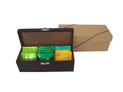Caixa de Chá em Madeira de Reflorestamento