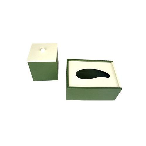 Kit Higiene- Caixa para Lenços e Porta Cotonete