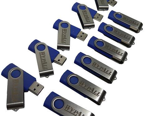 Pen Drive Giratório Azul