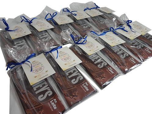 Barra de Chocolate em Saquinho de Celofane
