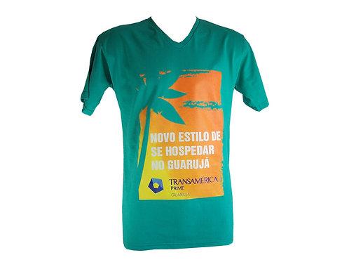 Camiseta de Algodão com Decote V